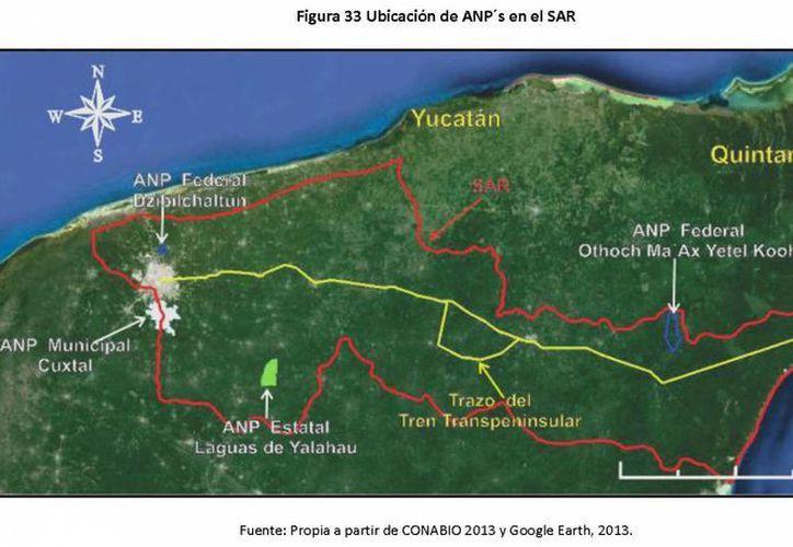 Ruta del Tren Transpeninsular pasa cerca de zonas naturales protegidas. (Redacción/SIPSE)