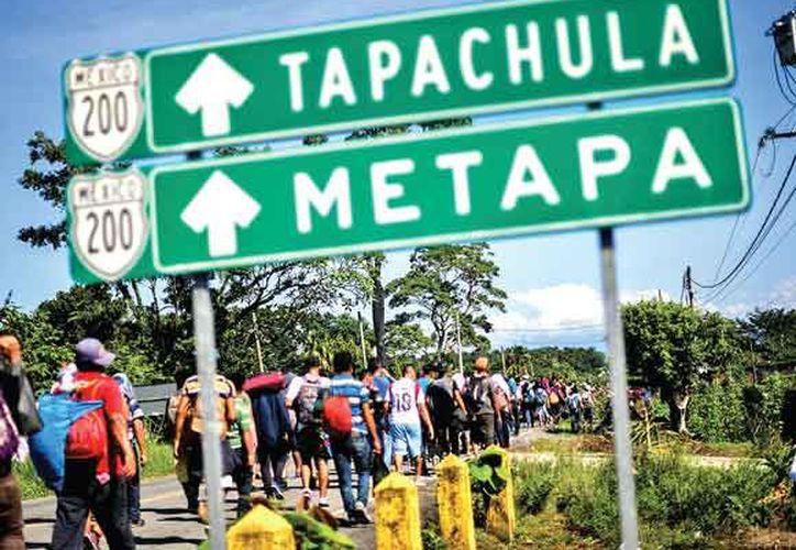 Seis mil migrantes procedentes de Centro américa atraviesan Chiapas. (AFP)