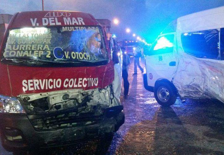 El accidente ocurrió en la avenido Paseo del Limonero del fraccionamiento Villas Otoch. (Redacción/SIPSE)