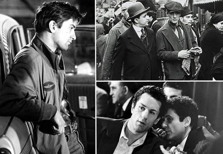 Robert de Niro, quien en esta composición aparece en escenas de Taxi Driver (i), The Godfather part 2 (arriba) y Raging Bull, recibirá el premio a la trayectoria en la próxima entrega de los galardones Hollywood Film. (empireonline.com)
