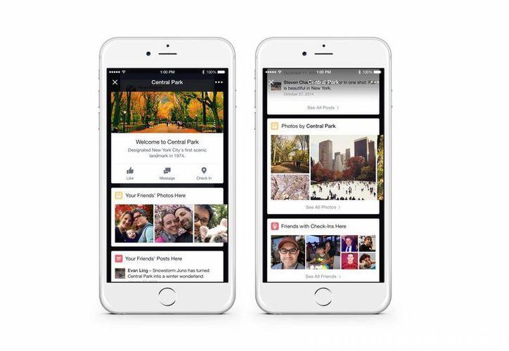 Las nuevas funciones de Facebook te recomendarán restaurantes o lugares cercanos donde se encuentre el usuario. (Agencias)
