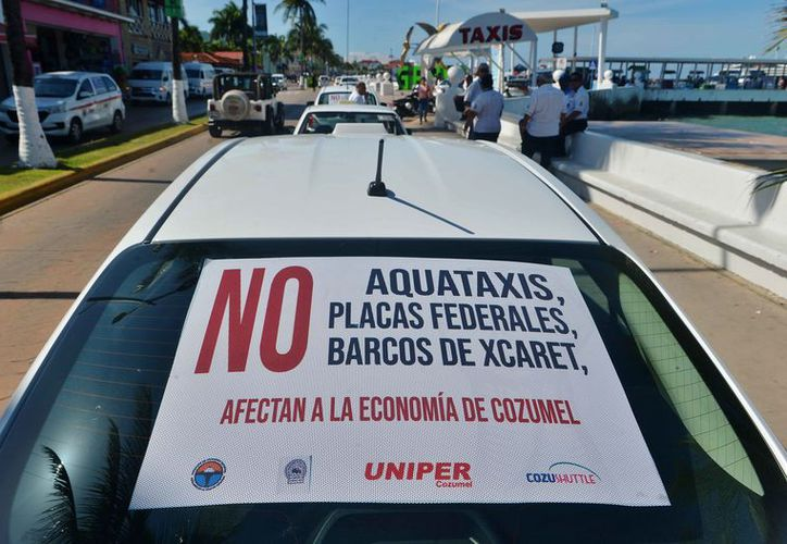 Los taxistas de la isla están listos para protestar. (Gustavo Villegas/SIPSE)