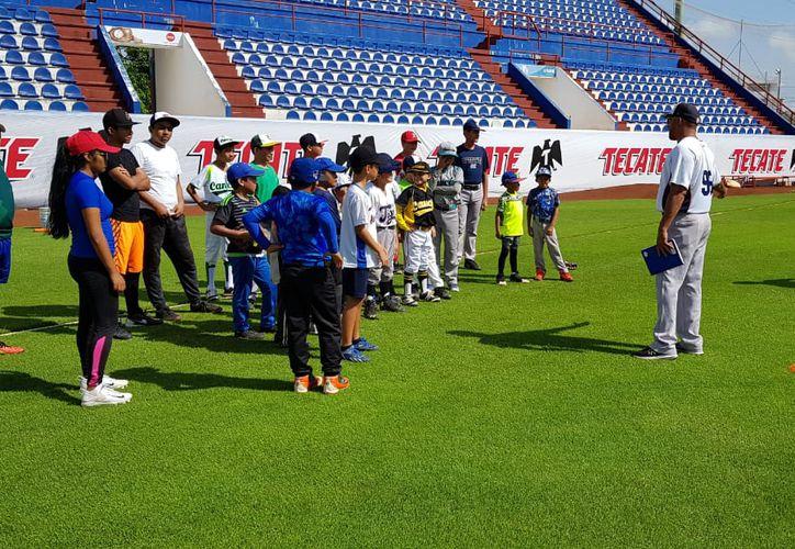 La convivencia fue en el estadio Beto Ávila. (Raúl Caballero/SIPSE)