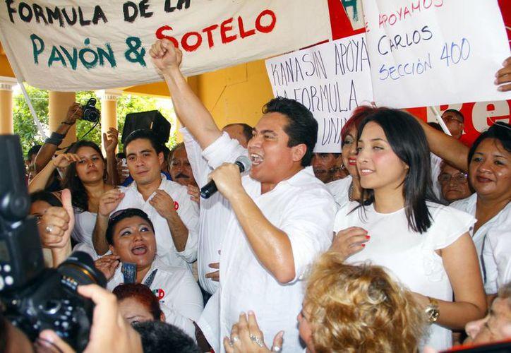 Carlos Pavón Flores y Marisol Sotelo Rejón tienen el apoyo de la militancia. (Juan Albornoz/SIPSE)