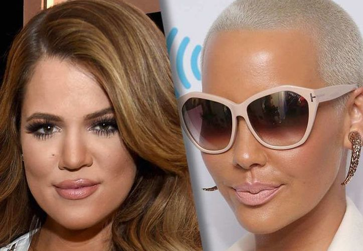 Amber Rose (d) declaró en una entrevista sobre la relación entre Kylie Jenner y el rapero Tyga, lo que generó el enojo de Khloe Kardashian. (vulture.com)
