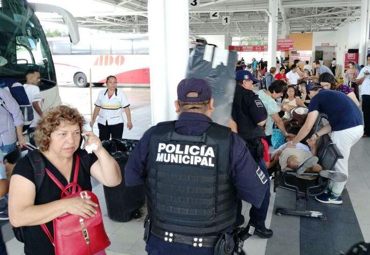 Durante el período vacacional se han registrado alrededor de 10 hurtos en la terminal de autobuses. (Foto: Daniel Pacheco)