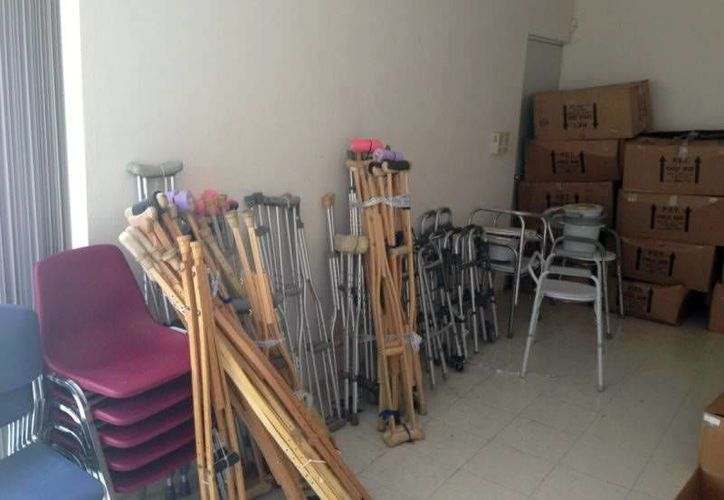Parte de los artículos que serán entregados a diversas asociaciones de Yucatán. (SIPSE)
