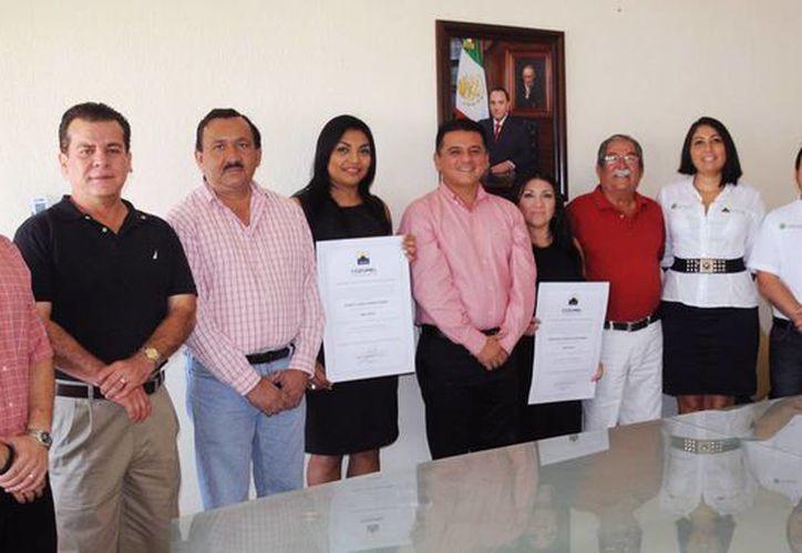 El evento tuvo lugar en la Sala de Juntas de la Presidencia Municipal. (Cortesía/SIPSE)
