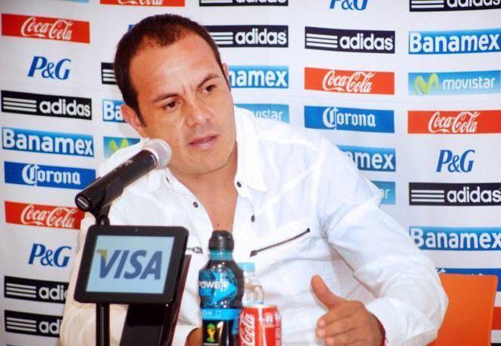 El alcalde de Cuernavaca fue registrado por el América, para poder jugar contra Morelia, en un partido de homenaje.(Archivo/SIPSE)
