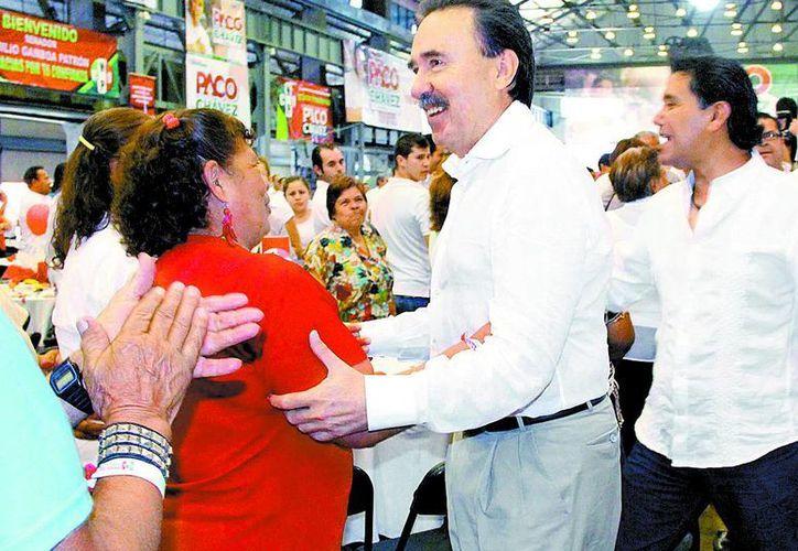 El coordinador del PRI en el Senado, Emilio Gamboa, estuvo en Aguascalientes. (Milenio)