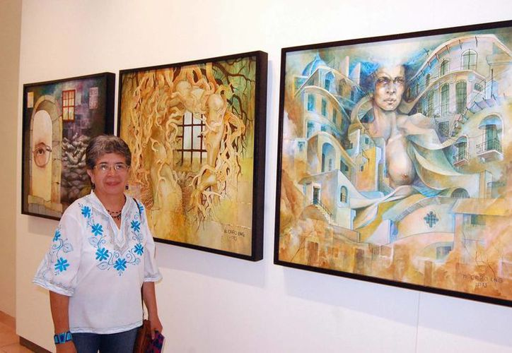 Aurora Caro Eng expone 14 cuadros en el Macay. (Milenio Novedades)