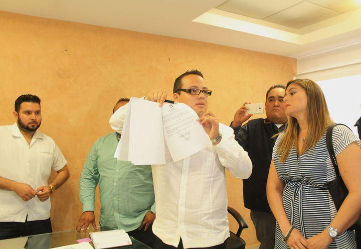 El joven priísta mencionó que asistirá al PRI en Chetumal. (Ivette Y Cos/SIPSE)