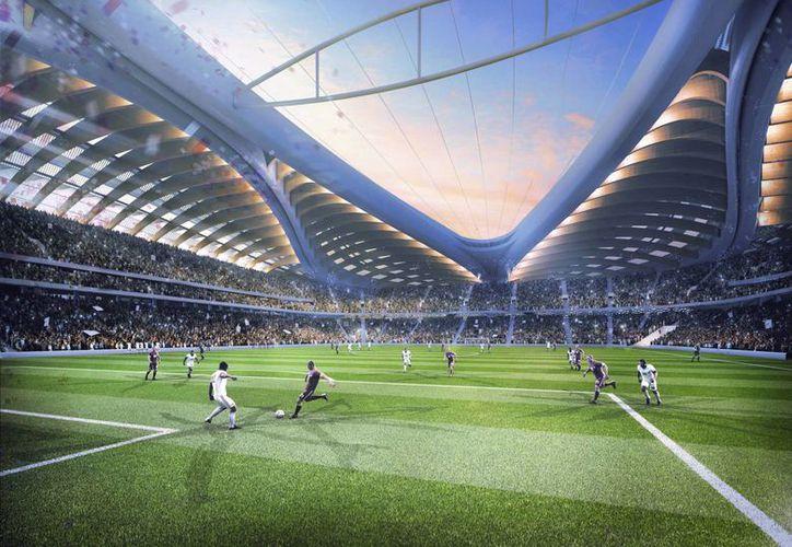 Imagen computarizada del estadio Al Wakrah, que será una de las sedes del Mundial que se realizará en Qatar en el año 2022. (Foto: AP)