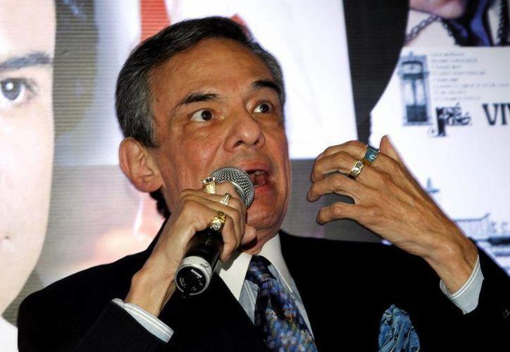 José José declaró que le urge grabar un nuevo disco, pero 'el micro no perdona nada, ahí suena todo'. (Notimex)