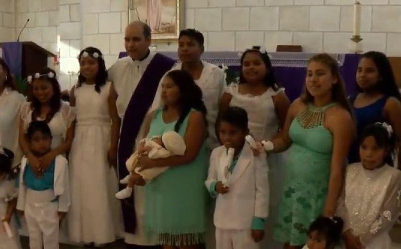 Regia de 30 años celebra el bautizo ¡de sus 10 hijos!
