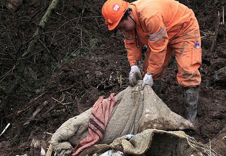 El derrumbe fue provocado al parecer por las torrenciales lluvias en la región. (mdzol.com)