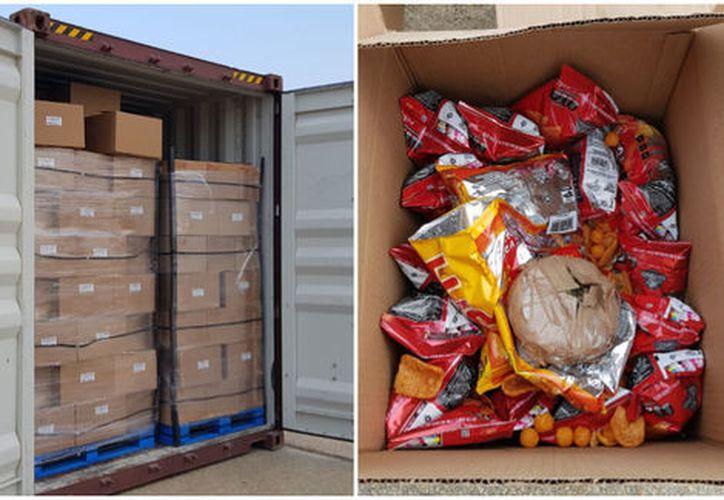 La droga fue puesta disposición de las autoridades correspondientes para la determinación del peso ministerial. (Foto: Milenio Noticias).