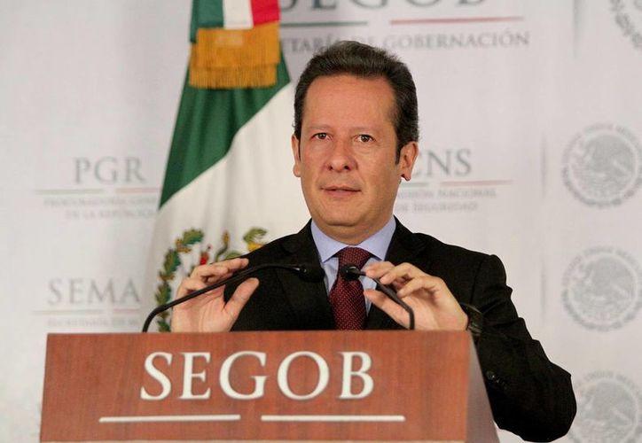 Sánchez Hernandez informó del aseguramiento de diverso armamento. (Notimex)