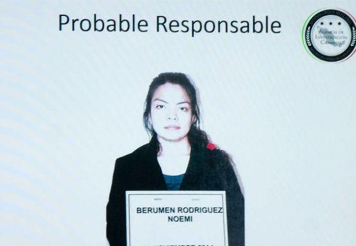 Noemí Berumen Rodríguez está acusada de ayudar a esconder a los Abarca en su domicilio en Iztapalapa. (PGR)