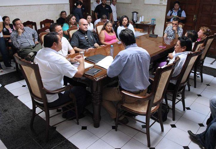 Aspecto de la sesión en la que se priorización las obras del Fondo de Infraestructura Social. (SIPSE)