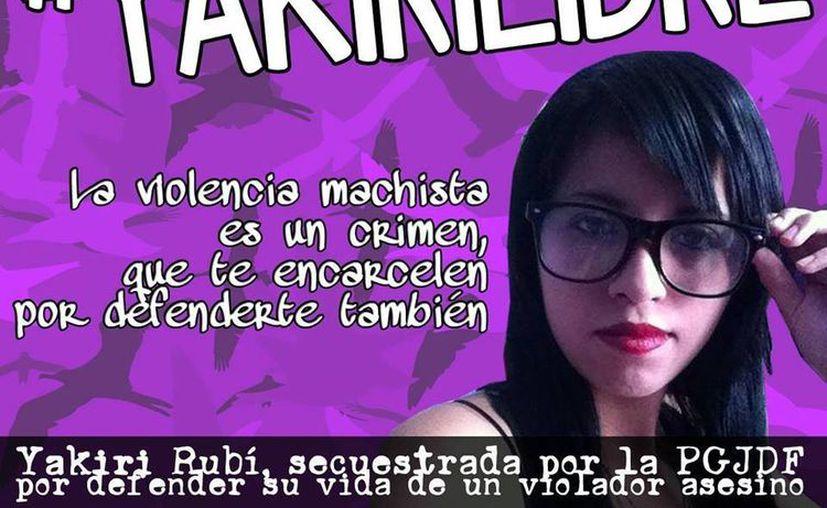 Familiares de Yakiri se movilizan en redes sociales para exigir la liberación de la joven. (Facebook/Yakiri Libre)