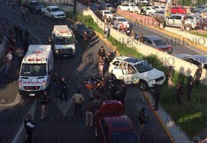 El atentado ocurrió sobre la avenida Constitución y Venustiano Carranza, cerca del túnel de la Loma Larga. (Foto especial/MILENIO)