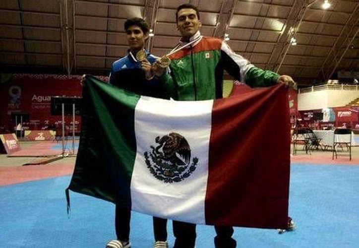 César Rodríguez ganó oro en la categoría de menos de 54 kilogramos en el Panamericano de tae kwon do. (Conade)