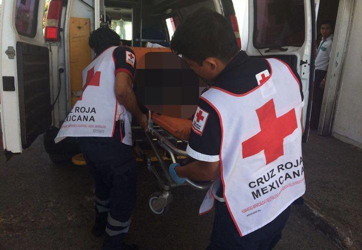 Paramédicos de la Cruz Roja la trasladaron a un hospital. (Redacción)