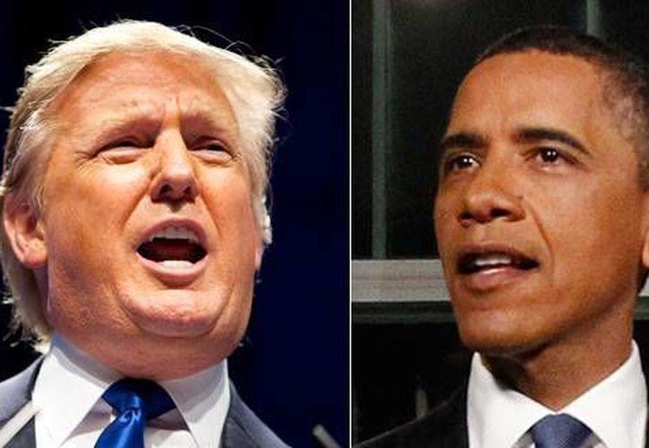 """Barack Obama piensa que Donald Trump no llegará a la Casa Blanca, esto lo declaró durante un programa de televisión de la cadena CBS donde definió al aspirante republicano como el """"clásico"""" personaje televisivo de """"reality shows"""" (Imágenes de Archivo/ AP)"""