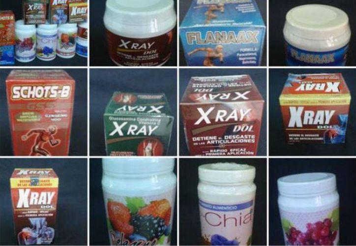 Advierte Cofepris de  productos sin permiso. (Imágenes tomadas de Facebook)