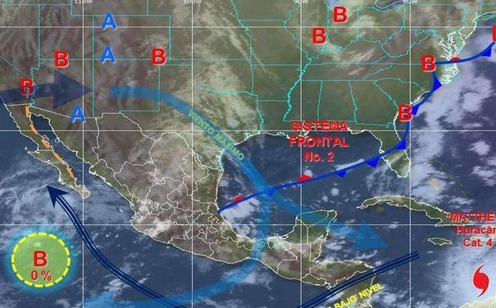 El tiempo probable para Quintana Roo es de medio nublado con lluvias dispersas y chubascos aislados. (Conagua)