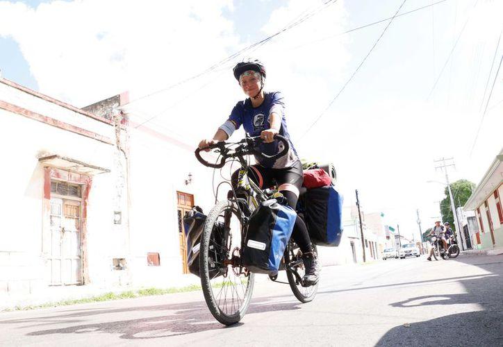 María Garu está visita en Mérida. (Foto: José Acosta/Milenio Novedades)