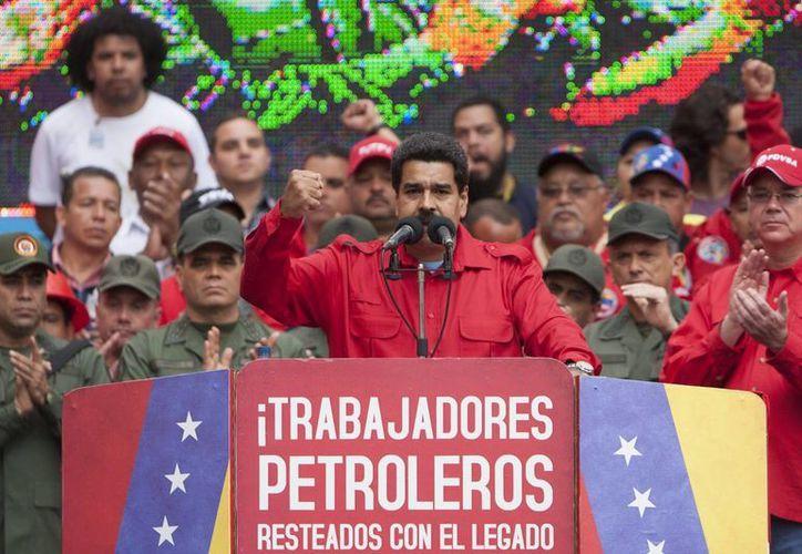 Maduro indicó que entre los detenidos por las protestas en Caracas hay extranjeros 'enviados como mercenarios'. (EFE)