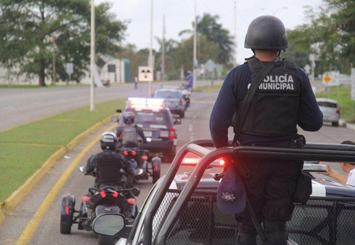 Policía redoblara esfuerzos para la protección de los bacalarenses.(Javier Ortiz/SIPSE)