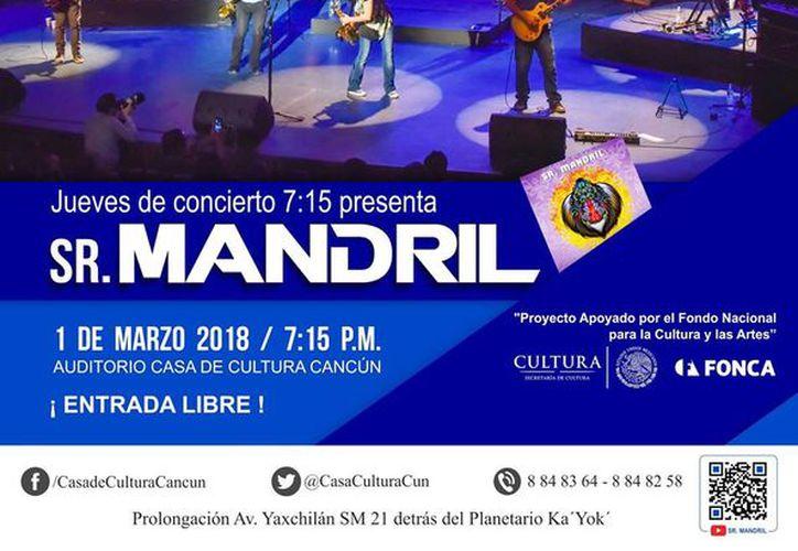 La presentación será en el patio central de Casa de Cultura Cancún, mañana 1 de marzo. (Faride Cetina/SIPSE)