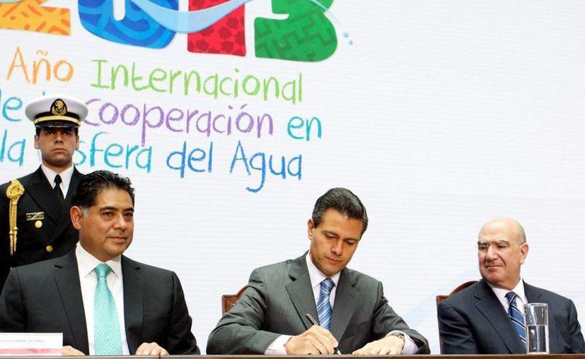 Presenta Peña su estrategia para el cuidado del agua y alertó sobre la sobreexplotación de acuíferos. (Agencias)