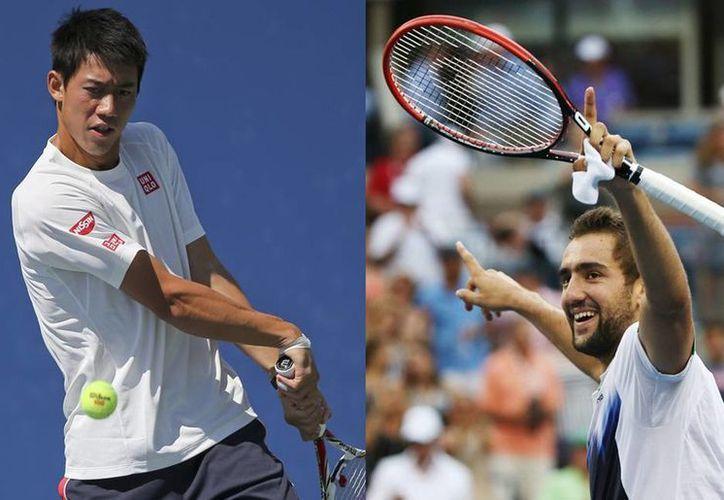 Sobra decir que Kei Nishikori (i) y Marin Cilic protagonizaron el sábado una de las jornadas más sorpresivas en un torneo del Grand Slam. (AP)
