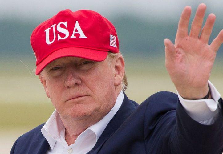 Donald Trump tuiteó hoy sobre el acuerdo al que llegó con el gobierno mexicano para frenar la aplicación de aranceles. (AP)