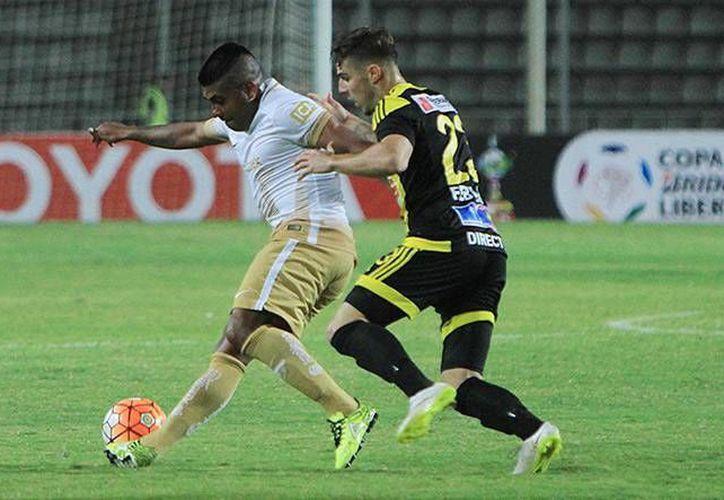 El Deportivo Táchira volvió a vencer a los Pumas de la UNAM, de la misma manera que en la fase de grupos; pero en esta ocasión la victoria le dio la ventaja en la ida de los octavos de final. (Mexsport/ Copa Libertadores)
