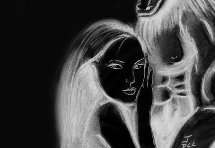 Representación artística del huaychivo y la dama que enamoraba cuando vivía, y también desde el más allá. (Jorge Moreno/SIPSE)