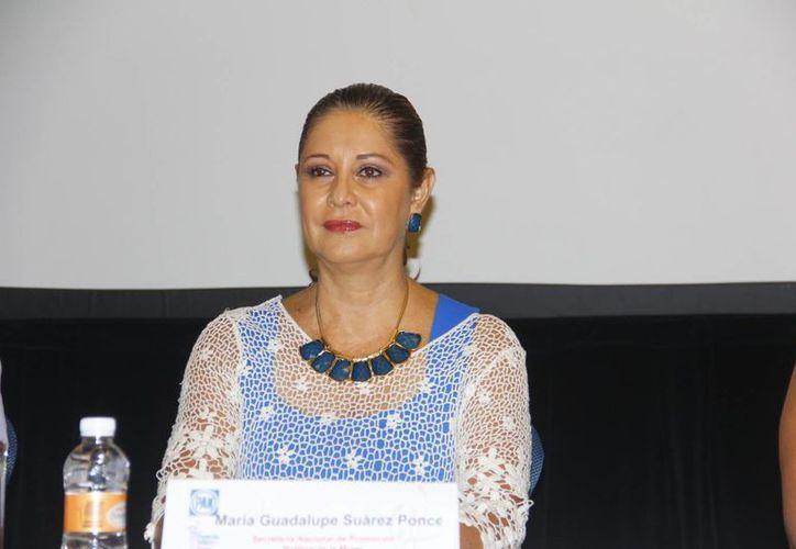 María Guadalupe Suárez Ponce, aseguró que las mujeres del PAN están preparadas para ocupar un cargo público. (Juan Albornoz/SIPSE)