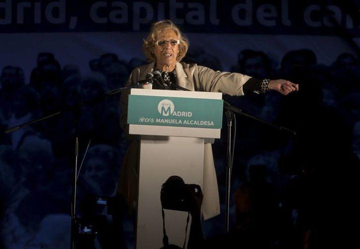 Manuela Carmena, de una coalición de izquierdas, habría ganado la Alcaldía de Madrid. (AP)
