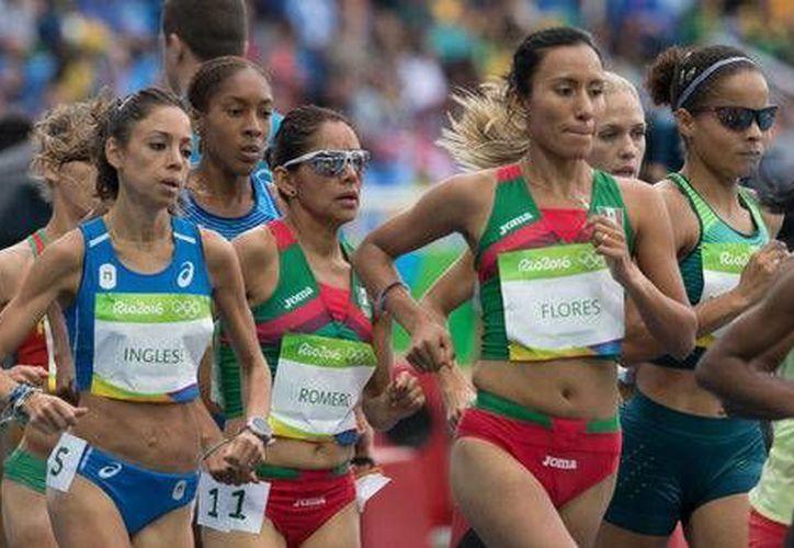 Las mexicanas finalizaron muy lejos de la primer lugar, Almaz Anaya, quien tuvo un tiempo de  29:17.45 minutos. (Foto tomada de Conade)