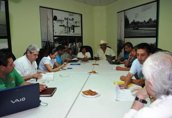 Al evento autoridades locales  y miembros de la directiva del comité de la cadena de valores de la nuez del ramón. (Redacción/SIPSE)