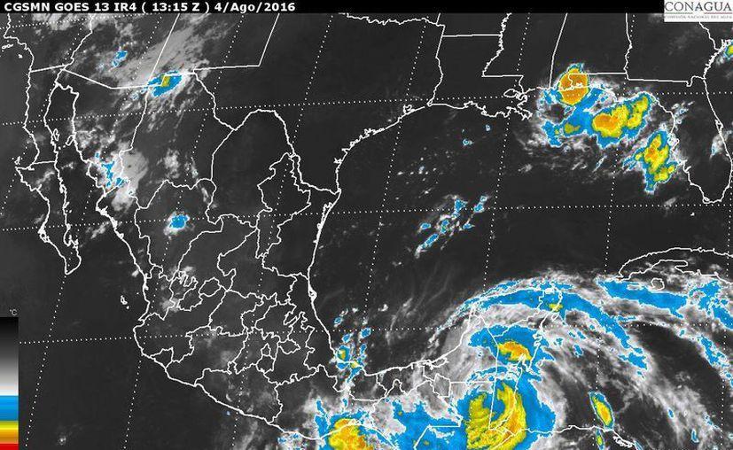 Luis Felipe Puente, coordinador nacional de Protección Civil, dijo que se espera que las lluvias que provocará la tormenta beneficien a Chiapas y Tabasco. (smn.cna.gob.mx)