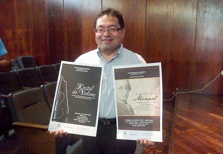 El maestro José Luis Chan Sabido protagonizará, junto con otros artistas, los conciertos de la Vienna Music & Art Academy Yucatán en el Olimpo. (Cortesía)