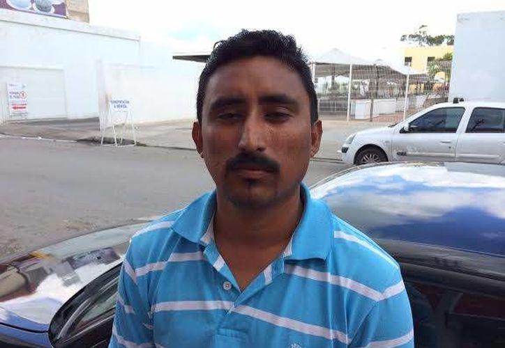 El líder del Sindicato de Recolectores de Progreso, Juan Balderas Cortez. (SIPSE)