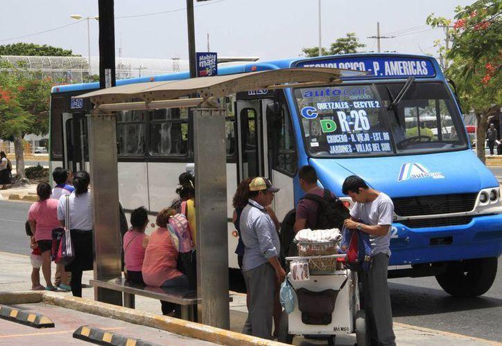 No todas las concesionarias de transporte público se verán afectadas. (Tomás Álvarez/SIPSE)