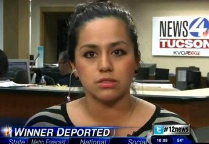 Zamira Osorio, hija de la ganadora, fue dejada en libertad al calificar para el programa de acción diferida creado por el presidente Obama. (laopinion.com)