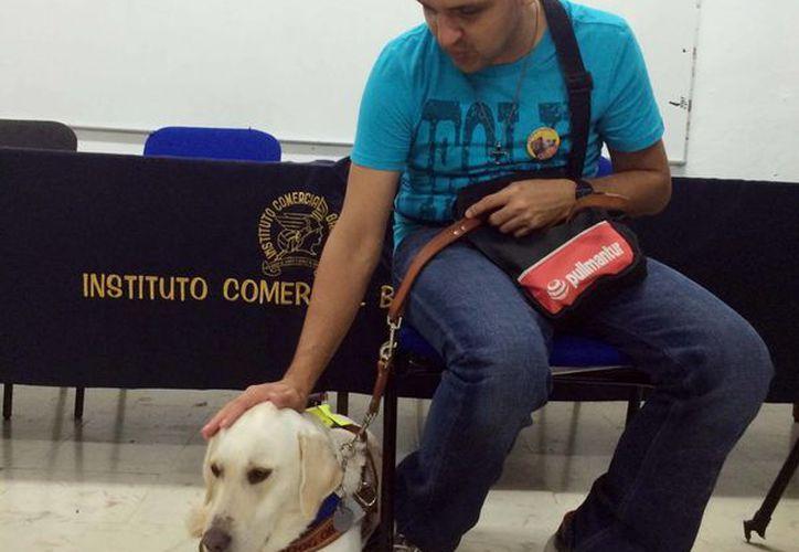En la Ciudad de México, aproximadamente medio millón de personas requieren la ayuda de un perro guía por diversas limitaciones físicas o cognitivas. (Notimex)